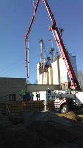 pumped concrete