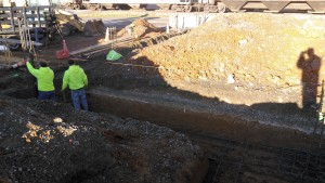 preparation for 12in thick reinforced foundation walls