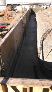 reinforced concrete foundation