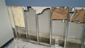 Damaged drywall and insulation in Harrisburg, PA