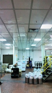 Food processing facility ceiling replacement